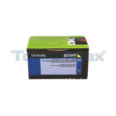 LEXMARK CX510 TONER CARTRIDGE YELLOW RP 3K